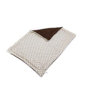 Spotty Flat Dog Bed - Cream 85x60