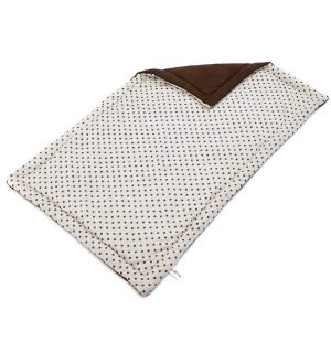 Spotty Flat Dog Bed - Cream 115x70